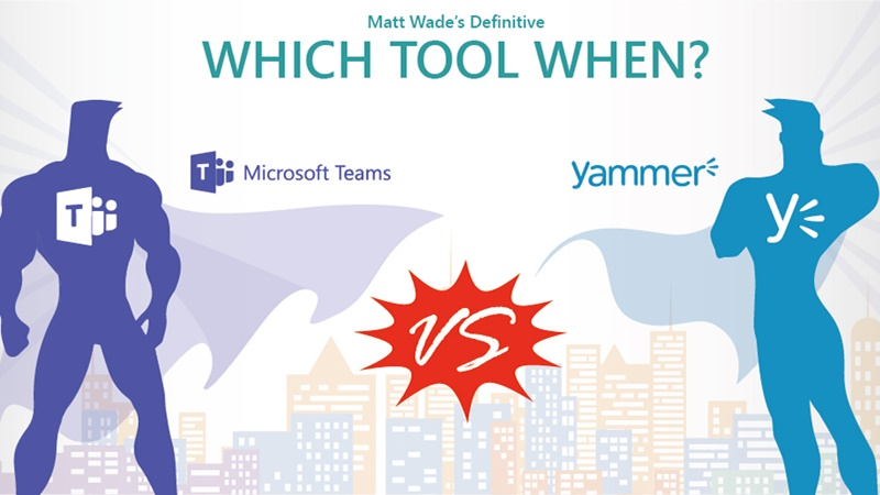 Which Tool When: #MicrosoftTeams or Yammer?